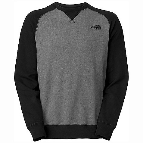 On Sale. The North Face Men's Half Dome Crew DECENT FEATURES of The North Face Men's Half Dome Crew Soft, comfortable, easy-care fabric Crew neck with triangle overlay 1x1 rib at cuffs and hem Embroidered logo at left chest Imported The SPECS Average Weight: 17.6 oz / 498 g Center Back Length: 30in. 280 g/m2 80% cotton 20% polyester fleece This product can only be shipped within the United States. Please don't hate us. - $25.99