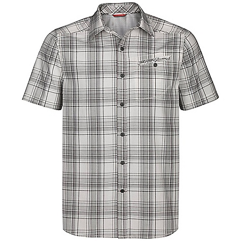 On Sale. Free Shipping. The North Face Men's Hayes Encore SS Woven Shirt DECENT FEATURES of The North Face Men's Hayes Encore Short Sleeve Shirt Woven Shirt 3M reflective yarn provides 500 candlepower reflectivity, the highest commercially available Plaids offered in polyester/cotton blend with reflective yarn incorporated in pattern Lightweight and stowable Ultraviolet protection factor (UPF) 50 Asymmetrical Napoleon button closure chest pocket Sun collar stand Reinforced side seam Rear cape venting Rear stowpocket Shirt-tail hem Recycled rubber buttons Imported The SPECS Average Weight: 7.1 oz / 200 g Center Back Length: 29.75in. Reflective Plaid: 57% cotton, 42% polyester, 1% 3M reflective nylon This product can only be shipped within the United States. Please don't hate us. - $34.99
