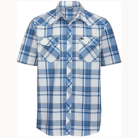On Sale. Free Shipping. The North Face Men's Steadman Shirt DECENT FEATURES of The North Face Men's Steadman Shirt Center front and pocket faux-pearl snaps Imported The SPECS Shell: 105 g/m2 51% cotton, 49% polyester yarn-dye plaid This product can only be shipped within the United States. Please don't hate us. - $41.99