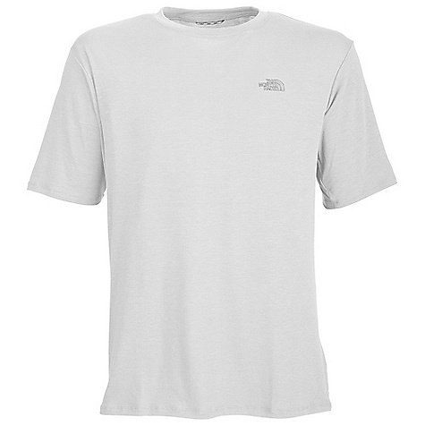 The North Face Men's S-S Reaxion Crew DECENT FEATURES of The North Face Men's Short Sleeve Reaxion Crew Soft, ultra light fabric Relaxed fit Set-in sleeves Drop-tail hem Locker loop Imported The SPECS Center Back Length: 27.5in. 145 g/m2 (4.3 oz/yd2) 95% spun polyester 140 g/m2 100% polyester jersey 5% elastane jersey This product can only be shipped within the United States. Please don't hate us. - $24.95
