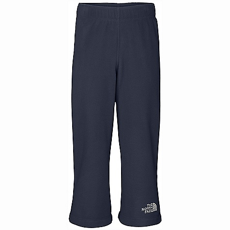 On Sale. The North Face Toddler Boys' Glacier Pant DECENT FEATURES of The North Face Toddler Boys' Glacier Pant Extremely durable, pill-resistant surface Lightweight warmth Encased elastic waist Embroidered logo at leg opening Cozy and comfortable, for cool to cold days The North Face logo embroidered at left ankle opening Quick-drying Bluesign approved fabric The SPECS Average Weight: 3.58 oz / 100 g Inseam: 15in. 160 g/m2 Polar Tec Classic Micro fleece-100% polyester (blue sign approved fabric) This product can only be shipped within the United States. Please don't hate us. - $16.99