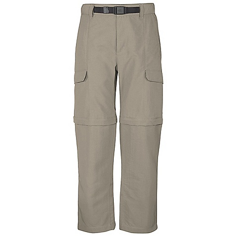 Free Shipping. The North Face Men's Paramount Peak Convertible Pant DECENT FEATURES of The North Face Men's Paramount Peak Convertible Pant Durable, midweight abrasion-resistant nylon DWR finish Partial elastic waist with belt loops, zip-fly and belt included Pant legs zip off to a 10in. short Color-coded convertible leg zips Large capacity cargo pockets at side Roomy rear pocket for extra capacity Relaxed fit The SPECS Average Weight: 19 oz / 540 g Inseam: short: 30in., regular: 32in., long: 34in. 70D 165 g/m2 (5.82 oz/yd2) 100% nylon woven This product can only be shipped within the United States. Please don't hate us. - $74.95
