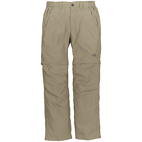 On Sale. Free Shipping. The North Face Men's Horizon Fall Convertible Pant DECENT FEATURES of The North Face Men's Horizon Fall Convertible Pant Improved, lightweight, pack able, abrasion resistant nylon rip stop Ultraviolet protection factor (UPF) 50 Quick-drying performance Converts into a 10in. short Partial elastic waistband Secure side-zip pocket Gusset at crotch for improved mobility Articulation at knees Side-leg zips The SPECS Average Weight: 12.5 oz / 355 g Inseam: short: 30in., regular: 32in., large: 34in. Fabric: 113 g/m2 100% nylon micro-rip stop (blue sign approved fabric) This product can only be shipped within the United States. Please don't hate us. - $39.99
