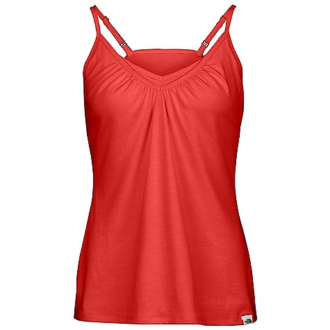 Fitness On Sale. The North Face Women's Dana VaporWick Cami DECENT FEATURES of The North Face Women's Dana VaporWick Cami Soft, mid weight fabric with cotton like hand feel and stretch Ultraviolet protection factor (UPF) 15 VaporWick for moisture wicking Shelf bra Adjustable straps The SPECS 199 g/m2 96% polyester, 4% elastane This product can only be shipped within the United States. Please don't hate us. - $16.99
