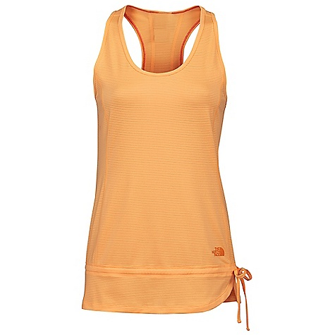 On Sale. The North Face Women's Tadasana Tunic DECENT FEATURES of The North Face Women's Tadasana Tunic Regular fit Petaled with tie on side for customizable fit hem Regular fit The SPECS Source: Imported Fabric: 90% polyester, 10% elastane knit drop-needle mesh This product can only be shipped within the United States. Please don't hate us. - $23.99