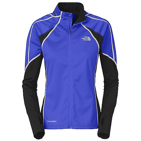 On Sale. Free Shipping. The North Face Women's Apex Climateblock Jacket DECENT FEATURES of The North Face Women's Apex Climateblock Jacket Performance fit 360 degree reflectivity Thumb loop Inner mitts Inner MP3 pocket Secure back zip pocket The SPECS Average Weight: 12.3 oz Center Back Length: 25in. Body: 225 g/m2 80% polyester, 20% polyurethane (PU), DWR, three-layer laminated Panel: 245 g/m2 88% recycled polyester, 12% elastane jersey This product can only be shipped within the United States. Please don't hate us. - $127.99