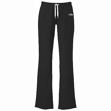 The North Face Women's Logo Stretch Pant DECENT FEATURES of The North Face Women's Logo Stretch Pant Soft, comfortable, easy-care stretch fabric Encased elastic and internal drawcord at rib waistband Contrast color flat-locked stitching at side seams Side seam slits at leg opening Embroidered logo at left hip The SPECS Average Weight: 12 oz / 350 g Inseam: 33in. 280 g/m2 68% cotton 28% polyester 4% elastane stretch fleece This product can only be shipped within the United States. Please don't hate us. - $44.95