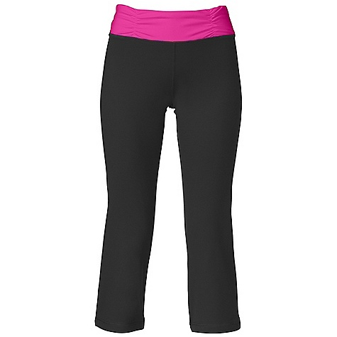 Fitness On Sale. Free Shipping. The North Face Women's Tadasana VPR Capri DECENT FEATURES of The North Face Women's Tadasana VPR Capri Recycled Shape Shifter fabric Ruched waistband with decorative stitch Concealed key pocket High-elastane fabric for supportive fit Wide flattering waistband Wrapped seams for slimming look The SPECS Inseam: 22in. 300 g/m2 88% recycled polyester 12% Lycra elastane jersey This product can only be shipped within the United States. Please don't hate us. - $48.99