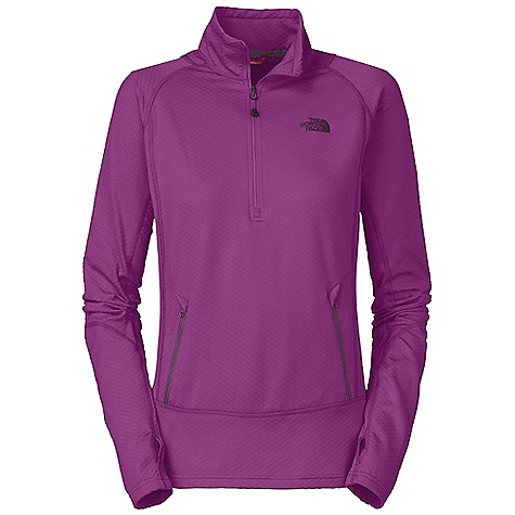 On Sale. Free Shipping. The North Face Women's Bubblecomb 1-2 Zip DECENT FEATURES of The North Face Women's Bubblecomb 1/2 Zip Lightweight, pack able stretch top Ultraviolet Protection Factor (UPF) 30 Zip hand pockets Thumbholes The SPECS Average Weight: 10.03 oz / 340 g Center Back Length: 25in. 88% polyester 12% elastane textured bubble knit This product can only be shipped within the United States. Please don't hate us. - $51.99