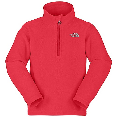 On Sale. The North Face Toddler Boys' Glacier 1-4 Zip DECENT FEATURES of The North Face Toddler Boys' Glacier 1/4 Zip Extremely durable, pill-resistant surface Classic, comfortable fleece quarter-zip pullover Lightweight warmth Quarter zip at neck Embroidered logo at left chest Quick-drying Lightweight bluesign approved fabric The SPECS Average Weight: 3.58 oz / 100 g Center Back Length: 15.5in. 160 g/m2 Polar Tec Classic Micro fleece-100% polyester (blue sign approved fabric), 100 fleece This product can only be shipped within the United States. Please don't hate us. - $23.99