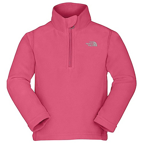 On Sale. The North Face Toddler Girls' Glacier 1-4 Zip DECENT FEATURES of The North Face Toddler Girls' Glacier 1/4 Zip Extremely durable, pill-resistant surface Lightweight warmth Quarter zip at neck Embroidered logo at left chest Classic fleece quarter-zip Quick-drying Lightweight bluesign approved fabric The SPECS Average Weight: 3.58 oz / 100 g Center Back Length: 15in. 160 g/m2 Polar Tec Classic Micro fleece-100% polyester (blue sign approved fabric), Polartec 100 fleece This product can only be shipped within the United States. Please don't hate us. - $23.99