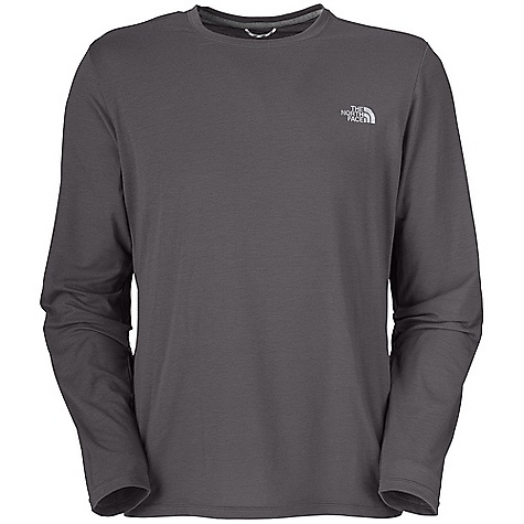 On Sale. The North Face Men's Reaxion Long Sleeve Crew DECENT FEATURES of The North Face Men's Reaxion Long Sleeve Crew Soft, ultra light fabric Relaxed fit Set-in sleeves Drop-tail hem Locker loop The SPECS Center Back Length: 27.75in. 145 g/m2 (4.3 oz/yd2) 95% spun polyester 5% elastane jersey This product can only be shipped within the United States. Please don't hate us. - $21.99