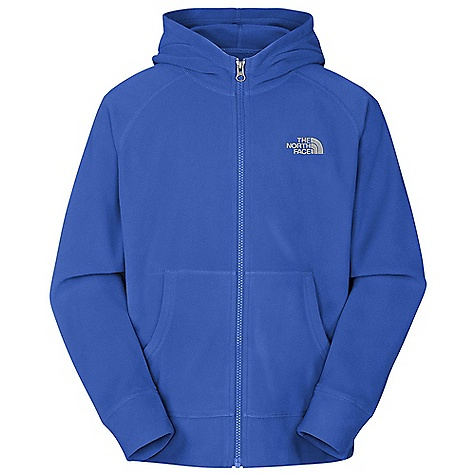 On Sale. The North Face Boys' Glacier Full Zip Hoodie DECENT FEATURES of The North Face Boys' Glacier Full Zip Hoodie Extremely durable, pill-resistant surface Lightweight warmth Kangaroo hand warmer pockets Self fabric color blocking on select color ways Contrast color zips and embroidery on select color ways Embroidered logo at left chest The SPECS Average Weight: 4.6 oz / 130 g Center Back Length: 21.5in. 70D 155 g/m2 100% polyester fleece This product can only be shipped within the United States. Please don't hate us. - $26.99