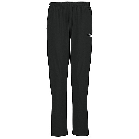 Free Shipping. The North Face Men's Agility Pant DECENT FEATURES of The North Face Men's Agility Pant Elastic waist with drawstring Hand pockets Zip pocket Calf zips Reflective logos DWR (durable water repellent) coated Imported The SPECS Average Weight: 9.6 oz Inseam: regular: 31in. Body: 120 g/m2 85% polyester, 15% elastane stretch woven Panels: 141 g/m2 100% polyester circular mesh tricot, 124 g/m2 100% polyester jacquard mesh This product can only be shipped within the United States. Please don't hate us. - $64.95