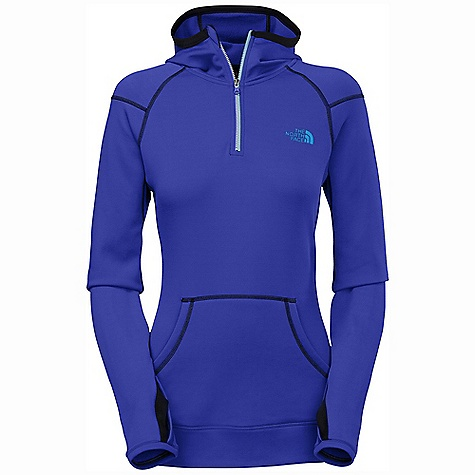 On Sale. Free Shipping. The North Face Women's Stretch Ninja Hoodie DECENT FEATURES of The North Face Women's Stretch Ninja Hoodie Soft stretch, abrasion-resistant knit fabric Fitted hood finished with soft knit Half zip zips over mouth for increased protection Kangaroo pocket Knit-lined thumb holes Three-color Vislon front zip The SPECS Average Weight: 14.11 oz / 400 g Center Back Length: 25in. 275 g/m2 (7.975 oz/yd2) 55% nylon 40% polyester 5% elastane TKA Super stretch fleece This product can only be shipped within the United States. Please don't hate us. - $59.99