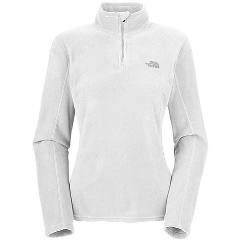 Free Shipping. The North Face Women's TKA 100 Microvelour Glacier 1-4 Zip DECENT FEATURES of The North Face Women's TKA 100 Microvelour Glacier 1/4 Zip Unique microfibers provide an unparalleled soft hand feel Quarter zip for venting Dries quickly to minimize heat loss Pill-resistant face and backing Feminine silhouette with 1in. drop tail bluesign approved fabric Backpack-friendly More feminine, longer silhouette with 1in. drop tail Upgraded Polartec Classic 100 is perfect for cool weather layering Ultraviolet Protection Factor (UPF) 30 Provides warmth without the weight and bulk of traditional insulating fabrics Imported Highly breathable to provide comfort in all activities The SPECS Average Weight: 6.35 oz / 180 g Center Back Length: 26in. 150 g/m2 (5.29 oz/yd2), Polartec Classic 100 Micro-100% polyester (bluesign approved fabric) This product can only be shipped within the United States. Please don't hate us. - $54.95