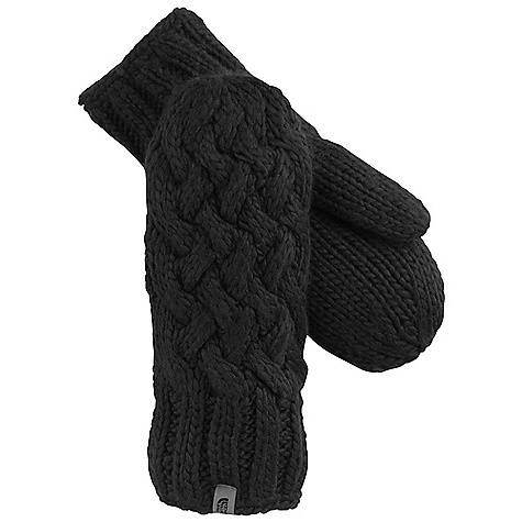 The North Face Women's Cable Knit Mitt DECENT FEATURES of The North Face Women's Cable Knit Mitt Offers technical warmth Comfy, casual mitt Women-specific fit Classic knit profile Imported The SPECS Shell: Wool blend, 50% wool, 40% acrylic, 10% alpaca, Lining: Micro-fleece This product can only be shipped within the United States. Please don't hate us. - $39.95