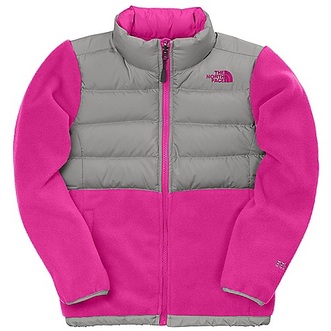 On Sale. Free Shipping. The North Face Girls' Denali Down Jacket DECENT FEATURES of The North Face Girls' Denali Down Jacket Zip-in and snapin compatible Zip handwarmer pockets Elastic binding at cuffs Encased elastic hem 550 fill down at chest and shoulders ID label Embroidered logo at left chest and back right shoulder The SPECS Average Weight: 14.7 oz / 418 g Center Back Length: 22.5in. Body: 330 g/m2 100% recycled polyester fleece with DWR Chest and Shoulder Abrasion: 50D 76 g/m2 100% recycled polyester taffeta with DWR Insulation: 550 fill down This product can only be shipped within the United States. Please don't hate us. - $63.99