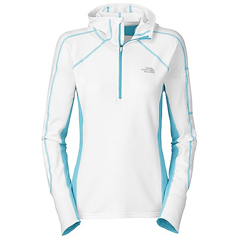 On Sale. Free Shipping. The North Face Women's Impulse 1-4 Zip Hoodie DECENT FEATURES of The North Face Women's Impulse 1/4 Zip Hoodie Inner mitts Security pocket Reflective logos Imported The SPECS Average Weight: 6.3 oz Center Back Length: 25in. 198 g/m2 (5.8 oz/yd2) 88% polyester 12% elastane-wicking This product can only be shipped within the United States. Please don't hate us. - $59.99