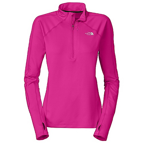 Free Shipping. The North Face Women's Impulse 1-4 Zip DECENT FEATURES of The North Face Women's Impulse 1/4 Zip Thumbholes Security pocket Reflective logos Imported The SPECS Average Weight: 7.8 oz Center Back Length: 25in. Body: 198 g/m2 (5.8 oz/yd2) 88% polyester, 12% elastane-wicking Panel: 160 g/m2 100% polyester This product can only be shipped within the United States. Please don't hate us. - $64.95