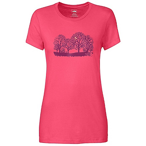 On Sale. The North Face Women's S-S Up In A Tweet Tee DECENT FEATURES of The North Face Women's Short Sleeve Up In A Tweet Tee Comfortable, lightweight, easy-care fabric Screen-printed graphic at center front 1x1 rib at collar The SPECS Average Weight: 4 oz / 113 g Center Back Length: 25.75in. 160 g/m2 94% cotton 6% organic cotton jersey This product can only be shipped within the United States. Please don't hate us. - $16.99