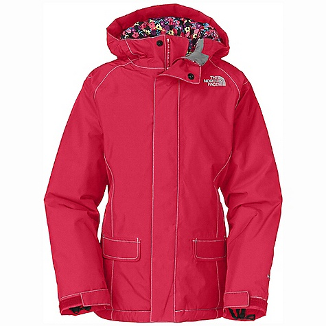 On Sale. Free Shipping. The North Face Girls' Insulated Cameele Jacket DECENT FEATURES of The North Face Girls' Insulated Cameele Jacket Waterproof, breathable, fully seam sealed Fixed hood Contrast color top stitching Zip hand warmer pockets Internal media pocket Key clip Glove clip Powder skirt Goggle cloth Adjustable draw cord system at hem Adjustable cuff tabs with Velcro closure System map on interior of garment outlines jacket features ID label Embroidered logo at left chest Imported The SPECS Average Weight: 30 oz / 820 g Center Back Length: 23.5in. Body: 75D 110 g/m2 HyVent 2L-100% polyester plain weave Lining: 50D 72 g/m2 100% polyester printed taffeta Insulation: 200 g (body), 160 g (sleeves) Heat seeker Aero This product can only be shipped within the United States. Please don't hate us. - $119.99