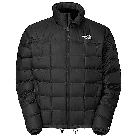 Free Shipping. The North Face Men's Thunder Jacket DECENT FEATURES of The North Face Men's Thunder Jacket Two secure-zip hand pockets Internal pocket Stows in left-hand pocket Bound cuffs Imported The SPECS Average Weight: 14.11 oz / 400 g Center Back Length: 28in. Body: 20D 35 g/m2 (1.015 oz/yd2) 100% nylon ripstop with DWR Insulation: 800 fill goose down This product can only be shipped within the United States. Please don't hate us. - $248.95