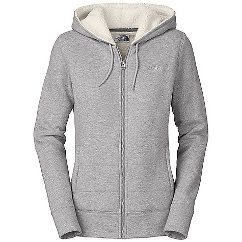 On Sale. Free Shipping. The North Face Women's Timberwood Full Zip Hoodie DECENT FEATURES of The North Face Women's Timberwood Full Zip Hoodie Soft, comfortable, easy-care fabric Quilted body On-seam hand pockets Exposed center front zip Embroidered logo at left chest and back right shoulder Imported The SPECS Average Weight: 23 oz / 630 g Center Back Length: 25in. Body: 280 g/m2 80% cotton, 20% polyester fleece Body and Hood Lining: 250 g/m2 100% polyester Sherpa fleece This product can only be shipped within the United States. Please don't hate us. - $52.99