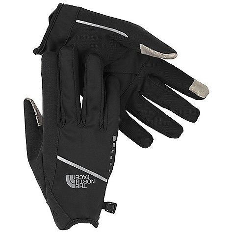 Fitness The North Face Runners Glove DECENT FEATURES of The North Face Runners Glove TNF Apex ClimateBlock fabric on back of hand blocks wind and rain Comfortable, breathable mesh on palm keeps hands from overheating Palm-side key pocket Abundant reflective hits provide visibility for running at night Watch Notch in wrist closure TNF Black accommodates wrist-top computers Large, plush nose-wipe panels The SPECS Shell: TNF ClimateBlock with DWR Palm: Breathable mesh This product can only be shipped within the United States. Please don't hate us. - $39.95