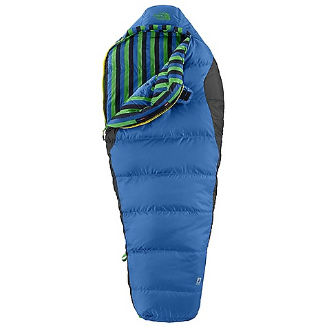 Camp and Hike Free Shipping. The North Face Youth Aleutian Down 20 Degree Sleeping Bag DECENT FEATURES of The North Face Youth Aleutian Down 20 Degree Sleeping Bag 600+ fill goose down Soft ripstop polyester shell Internal watch pocket Screen-printed stuffsack The SPECS Temperature Rating: 20deg F / -7deg C Total Weight: 2 lbs 3 oz / 990 g Stuffsack Size: 8 x 12in. / 20 x 30 cm Fill: 600+ Down Fill Weight: 1 lb 3 oz / 539 g Shape: Mummy Compressed Size: 385 cubic inches / 6.3 liter This product can only be shipped within the United States. Please don't hate us. - $178.95