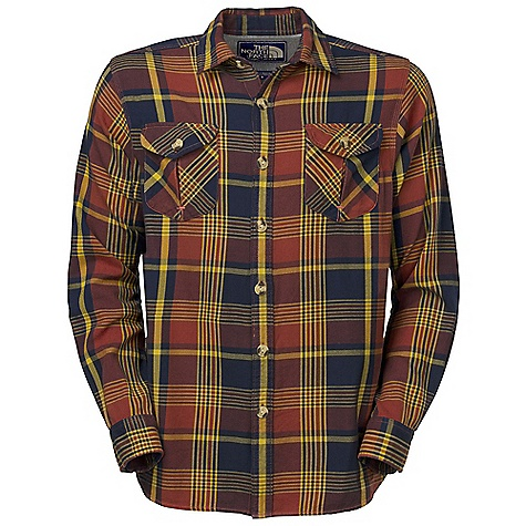 On Sale. Free Shipping. The North Face Men's Portage Flannel DECENT FEATURES of The North Face Men's Portage Flannel Side-seam gusset Herringbone tape inside placket Jersey lining at back yoke Fell seams at side seams and underarms Button flap inverted pleat pocket Logo patch inside placket Imported The SPECS Average Weight: 12 oz / 340 g Center Back Length: 29.75in. Body: 180 g/m2 100% cotton yarn-dyed flannel Finish: Enzyme washed This product can only be shipped within the United States. Please don't hate us. - $44.99