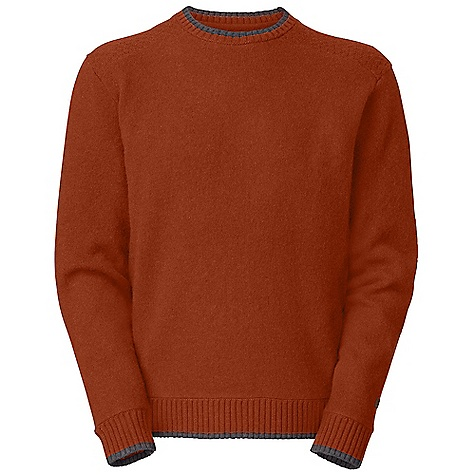 On Sale. Free Shipping. The North Face Men's Cedarwood Sweater DECENT FEATURES of The North Face Men's Cedarwood Sweater Contrast tipped rib at crew neck, cuffs and hem Popcorn stitching at shoulders Faux leather patch at left arm The SPECS Average Weight: 14 oz / 383 g Center Back Length: 26.5in. 9-gauge jersey knit-90% boiled lamb's wool 10% nylon This product can only be shipped within the United States. Please don't hate us. - $49.99