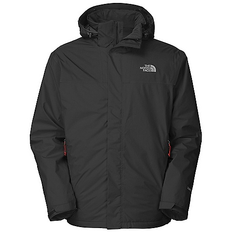Free Shipping. The North Face Men's Mountain Light Insulated Jacket DECENT FEATURES of The North Face Men's Mountain Light Insulated Jacket Waterproof, breathable, seam sealed Fully adjustable removable hood with lower face protection Center front stormflap and Velcro closure Pit-zip venting Self fabric cuff tabs Brushed collar lining Polyurethane (PU) zip hand pockets The SPECS Average Weight: 29.98 oz / 850 g Center Back Length: 30in. Body: 50D 94 g/m2 (2.72 oz/yd2) 100% polyester Gore-Tex Shell 2L ripstop Insulation: 100 g PrimaLoft Eco This product can only be shipped within the United States. Please don't hate us. - $298.95