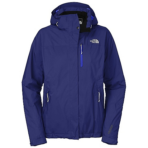 On Sale. Free Shipping. The North Face Women's Mountain Light Insulated Jacket DECENT FEATURES of The North Face Women's Mountain Light Insulated Jacket Waterproof, breathable, seam sealed Fully adjustable, removable drop hood with lower face protection Brushed collar lining Embossed taffeta lining Polyurethane (PU) coated zip chest pocket Center front zip and Velcro closure Pit-zip vents Two secure-zip hand pockets Self fabric adjustable cuff tabs Hem cinch-cord The SPECS Average Weight: 29.98 oz / 850 g Center Back Length: 27.5in. Body: 50D 94 g/m2 (2.726 oz/yd2) polyester Gore-Tex 2L Insulation: 100 g PrimaLoft Eco This product can only be shipped within the United States. Please don't hate us. - $178.99