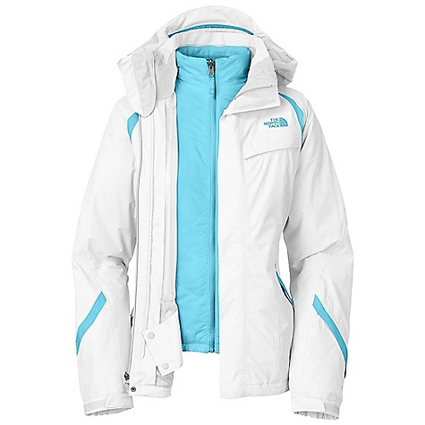 Free Shipping. The North Face Women's Kira Triclimate Jacket DECENT FEATURES of The North Face Women's Kira Triclimate Jacket Waterproof, breathable, fully seam sealed Adjustable EZD-tach hood Chest zip pocket Core vents Handwarmer zip pockets Wrist accessory pocket with goggle cloth Internal goggle pocket Powder skirt Adjustable hem system Adjustable cuff tabs (Tricimate) Zip-in compatible Imported The SPECS Average Weight: 41.48 oz / 1176 g Center Back Length: shell: 27in., liner: 25in. Shell: 75D 110 g/m2 HyVent polyester plain weave Lining: Slick mesh body Liner: 40D 59 g/m2 diamond dobby nylon ripstop Insulation: 100 g Heatseeker This product can only be shipped within the United States. Please don't hate us. - $289.95