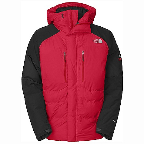 On Sale. Free Shipping. The North Face Men's Summit Jacket DECENT FEATURES of The North Face Men's Summit Jacket 800 fill power Eastern European goose down offers superior warmth while remaining extremely durable and compressible Welded baffle constriction eliminates cold spots Reinforced shoulders and bottom rear hem for increased durability during rugged belays Pre-cinched cuff with cuff tab for bomber weather protection Contoured pit-zips are easy to use and extend comfort range dramatically Two deep, zippered chest pockets and two zippered hand warmer pockets The SPECS Average Weight: 1 lb 14 oz / 850 g Center Back Length: 30in. Body: 30D 100% nylon 56 g/m2 (1.62 oz/yd2) Insulation: 800 fill Eastern European goose down This product can only be shipped within the United States. Please don't hate us. - $323.99