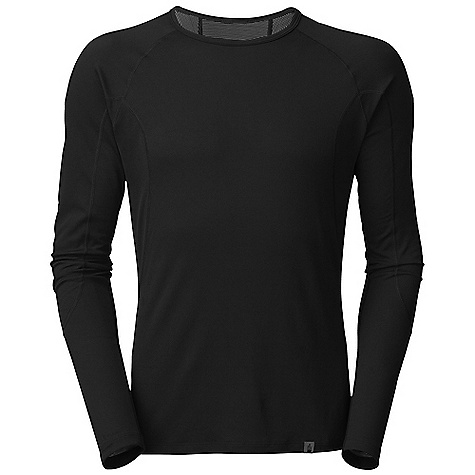 The North Face Men's Light L-S Crew Neck DECENT FEATURES of The North Face Men's Light Long Sleeve Crew Neck Crew neck Flat-locked seams Logo tag Imported The SPECS Average Weight: 3.88 oz / 110 g Center Back Length: 28.5in. 115 g/m2 89% polyester 11% polyolefin two-layer hi-mechanical stretch double knit with Flash Dry fiber This product can only be shipped within the United States. Please don't hate us. - $44.95