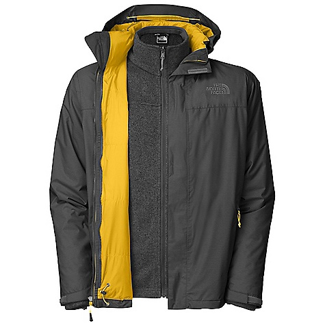 On Sale. Free Shipping. The North Face Men's Flathead Triclimate Jacket DECENT FEATURES of The North Face Men's Flathead Triclimate Jacket Waterproof, breathable, seam sealed Zip-in compatible integration with complementing garments Adjustable removable hood Hem cinch-cord Core vents Center front storm flap with zip and Velcro closure Pit-zips Brushed chin guard (Triclimate) Two secure zip hand pockets Imported The SPECS Average Weight: 47.62 oz / 1350 g Center Back Length: 30in. Body: 40D 100% nylon HyVent 2L Triclimate insulation: 60 g Heatseeker with Hyvent 2L, 100% polyester Gordon Lyons sweater fleece This product can only be shipped within the United States. Please don't hate us. - $201.99