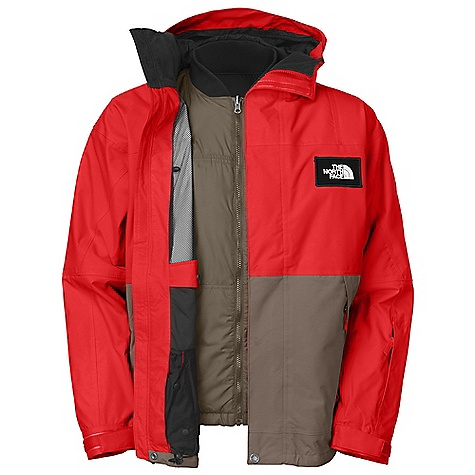 Free Shipping. The North Face Men's Rachet Triclimate Jacket DECENT FEATURES of The North Face Men's Rachet Triclimate Jacket Waterproof, breathable, fully seam sealed Fixed hood Pit-zip vents Zip hand pockets Flap chest pocket External media pocket Wrist accessory pocket with goggle cloth Internal goggle pocket Snap-down powder skirt with elastic gripper Hook-and-loop adjustable cuffs Adjustable hem system (Tricimate) Snap-in, reversible Hand and snap chest pocket Reverse: Snap hand pockets The SPECS Average Weight: 42.33 oz / 1200 g Center Back Length: Shell: 30.25in., liner: 26.75in. Shell: HyVent 2L proweave Lining: Taffeta, mesh Insulation: 100 g Heatseeker Liner: Mini-ripstop, reversible taffeta jacket This product can only be shipped within the United States. Please don't hate us. - $320.00