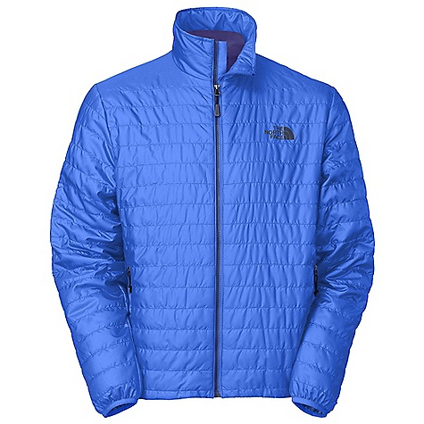 The North Face Men's Blaze Micro Full Zip Jacket is a synthetic insulated jacket for a boost of warmth in the winter chill. The Blaze Micro has been lightly stuffed with 60g of polyester Insulation with FlashDry(TM), to keep you warm and dry out quickly in damp situations. The durable 20D 100% recycled polyester outer shell protects against abrasion on the trail and out on the town. Easily packable, it will stuff into it's own hand pocket when the heat of the trail leads to shedding a layer or two. The hand pockets zip closed to protect anything from your keys to snacks and even warm your paws on the go. The binding at the cuffs and cinch-cord at the hem block out drafts in this lightweight, warm jacket for mild winter adventures. Features of The North Face Men's Blaze Micro Full Zip Jacket Two secure-zip hand pockets Stows in hand pocket Binding at cuffs Center front three-color Vislon zip closure Hem cinch-cord - $114.99