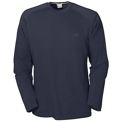 On Sale. The North Face Men's L-S The North Face Crew DECENT FEATURES of The North Face Men's The North Face Long Sleeve Crew Comfortable, lightweight, easy-care fabric 1x1 rib at collar Logo patch at cuff The SPECS Average Weight: 11 oz / 300 g Center Back Length: 29in. Body: 175 g/m2 100% cotton sueded jersey Finish: Garment wash This product can only be shipped within the United States. Please don't hate us. - $16.99