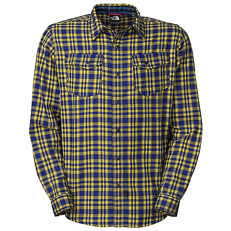 On Sale. Free Shipping. The North Face Men's L-S Send Flannel DECENT FEATURES of The North Face Men's Long Sleeve Send Flannel Cotton hand feel, with the benefit of polyester wicking Supreme warmth to weight ratio Ultraviolet Protection Factor (UPF) 50 Unique stitching detailing on pockets and center front Abrasion-resistant snaps Two large chest pockets Different plaid pattern in back neck discovery feature Quick Dry The SPECS Average Weight: 11.29 oz / 320 g Center Back Length: 29.75in. 30D 146 g/m2 (5.15 oz/yd2) 100% hollow core polyester flannel This product can only be shipped within the United States. Please don't hate us. - $44.99