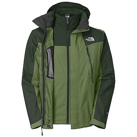 On Sale. Free Shipping. The North Face Men's Condor Triclimate Jacket DECENT FEATURES of The North Face Men's Condor Triclimate Jacket Waterproof, breathable, seam sealed Zip-in compatible integration with complementing garments Adjustable removable hood Two Napoleon vented chest pockets Hem cinch-cord Center front storm flap with zip and Velcro closure Two secure zip hand pockets Cuff tabs Brushed chin guard (Triclimate) Two secure zip hand pockets Imported The SPECS Average Weight: 42.68 oz / 1210 g Center Back Length: 30in. Body: 70D 108 g/m2 (3.132 oz/yd2) 100% nylon, HyVent 2L Triclimate Insulation: TNF Apex Climate Block This product can only be shipped within the United States. Please don't hate us. - $187.99