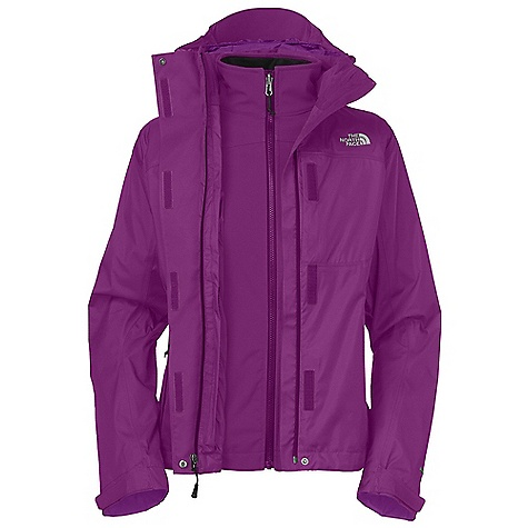 On Sale. Free Shipping. The North Face Women's Condor Triclimate Jacket DECENT FEATURES of The North Face Women's Condor Triclimate Jacket Waterproof, breathable, seam sealed Zip-in compatible integration with complementing garments Fully adjustable, removable hood Center front zip and Velcro closure with storm flap Pit-zip vents Two secure zip hand pockets Secure zip chest pocket Self fabric cuff tabs Hem cinch-cord (Triclimate) TNF Apex Climate Block Two secure zip hand pockets Fleece backer Imported The SPECS Average Weight: 40.92 oz / 1160 g Center Back Length: 27.5in. Body: 70D 133 g/m2 (3.857 oz/yd2) 100% nylon HyVent 2L Triclimate Insulation: TNF Apex Climate Block This product can only be shipped within the United States. Please don't hate us. - $187.99