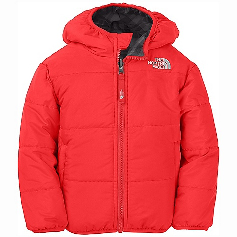 On Sale. Free Shipping. The North Face Toddler Boys' Reversible Perrito Jacket DECENT FEATURES of The North Face Toddler Boys' Reversible Perrito Jacket Quilting on solid side Reverses to plaid Welt zip hand pockets on solid side Elastic binding at cuffs, hem and hood Embroidered logo at left chest on both sides Embroidered logo on back right shoulder of solid side The SPECS Average Weight: 9.5 oz / 270 g Center Back Length: 15.5in. Body: 50D 100% nylon taffeta with DWR Reverse Body: 50D 100% polyester taffeta with print and DWR Insulation: 120 g Heatseeker Aero This product can only be shipped within the United States. Please don't hate us. - $55.99