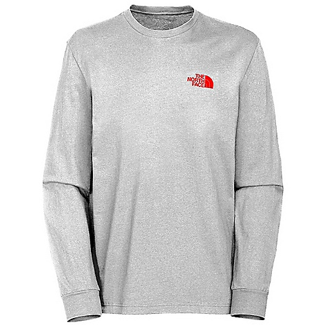 The North Face Men's Red Box Long Sleeve Tee DECENT FEATURES of The North Face Men's Red Box Long Sleeve Tee Comfortable, lightweight, easy-care fabric Screen-printed graphic at center back 1x1 rib at collar The SPECS Average Weight: 9.6 oz / 272 g Center Back Length: 28.5in. 180 g/m2 94% cotton 6% organic cotton jersey This product can only be shipped within the United States. Please don't hate us. - $29.95