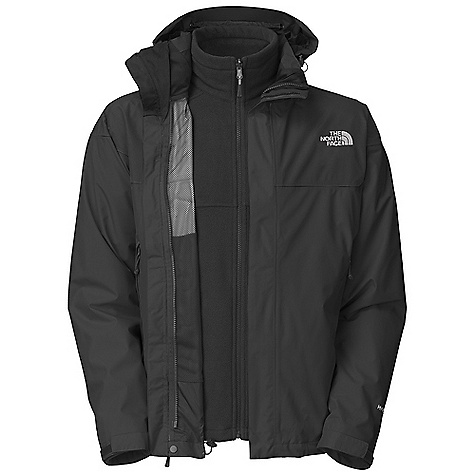 On Sale. Free Shipping. The North Face Men's Phere Triclimate Jacket DECENT FEATURES of The North Face Men's Phere Triclimate Jacket Waterproof, breathable, seam sealed Zip-in compatible integration with complementing garments from The North Face Two vented hand pockets Self fabric adjustable cuff tabs Center front storm flap with zip and Velcro closure (Triclimate) 100 g fleece Two secure zip hand pockets Elastic bound cuff Fixed hood Vented hand pockets Imported The SPECS Average Weight: 42.33 oz / 1200 g Center Back Length: 30in. Body: 75D 110 g/m2 (3.19 oz/yd2) 100% polyester HyVent 2L Triclimate Insulation: 100 weight fleece This product can only be shipped within the United States. Please don't hate us. - $148.99