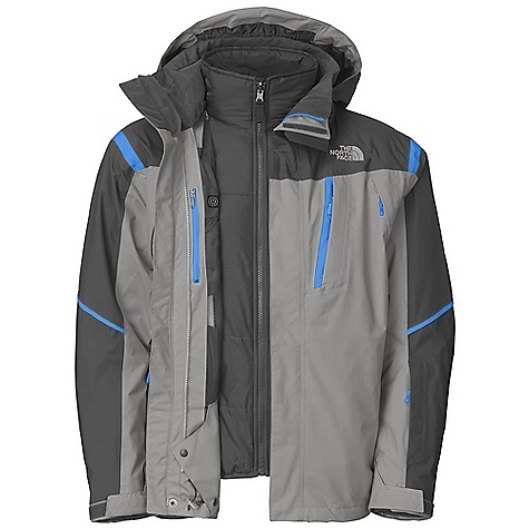 On Sale. Free Shipping. The North Face Men's Vortex Triclimate Jacket DECENT FEATURES of The North Face Men's Vortex Triclimate Jacket Waterproof, breathable, fully seam sealed Adjustable EZD-tach hood Dual chest pockets Handwarmer zip pockets Core vents Wrist accessory pocket with goggle cloth Internal goggle pocket Powder skirt Adjustable hem system Adjustable cuff tabs (Tricimate) Zip-in Zip hand pockets Internal security pocket Imported The SPECS Average Weight: 55.27 oz / 1567 g Center Back Length: 31in. Shell: 70D x 160D 133 g/m2 HyVent 2L nylon dobby Liner: 50D 72 g/m2 63% polyester, 37% nylon shadow pinstripe Insulation: 100 g Heatseeker This product can only be shipped within the United States. Please don't hate us. - $216.99