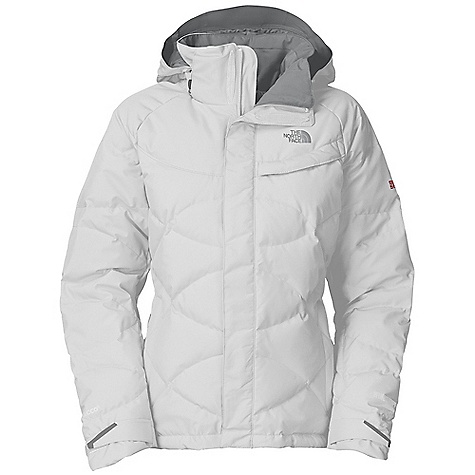 Snowboard Free Shipping. The North Face Women's Helicity Down Jacket DECENT FEATURES of The North Face Women's Helicity Down Jacket Wind resistant, breathable Recco avalanche rescue reflector Fixed hood Hand warmer zip pockets Wrist accessory pocket with goggle cloth Internal media security pocket Internal utility pocket Adjustable elliptical hem system Adjustable cuff tabs The SPECS Average Weight: 30.86 oz / 875 g Center Back Length: 26in. Body: 75D 115 g/m2-100% polyester 2L Gore-Tex Performance plain weave Lining: Solid taffeta Insulation: 700 fill down This product can only be shipped within the United States. Please don't hate us. - $348.95