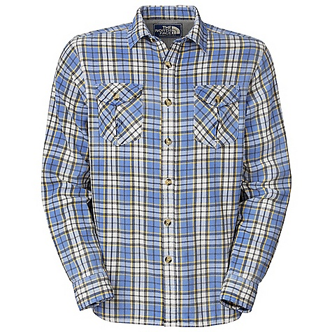 On Sale. Free Shipping. The North Face Men's Stony River Flannel DECENT FEATURES of The North Face Men's Stony River Flannel Button flap inverted pleat pockets Side-seam gusset Herringbone tape on inside placket Jersey lining at back yoke Fell stitching at side seams and underarms Logo patch at inside placket The SPECS Average Weight: 11 oz / 320 g Center Back Length: 29.75in. Body: 180 g/m2 100% cotton yarn-dyed flannel Finish: Enzyme washed, vintage sprayed This product can only be shipped within the United States. Please don't hate us. - $59.99